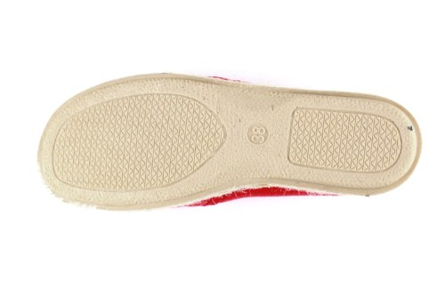 AM597. Andres Machado. Chaussures SLIP ON Toile et semelle en Jute. Unisex. Pointure de la 36 à la 45.MADE IN SPAIN Rojo