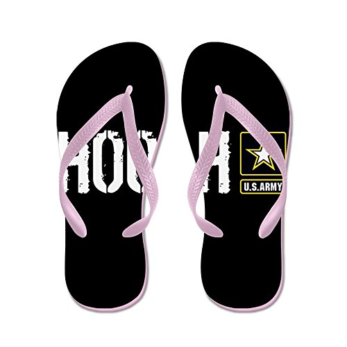 Esercito Di Noi Vestiti: Hooah (nero) - Infradito, Sandali Infradito Divertenti, Sandali Da Spiaggia Rosa