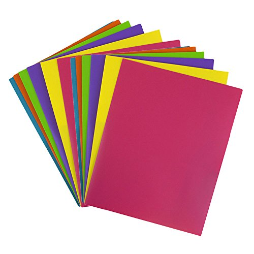 JAM Paper Plastic 2-Pocket Folders - 9 1/2