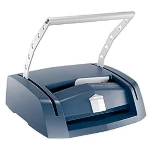Leitz Máquina de encuadernar A4, Incluye kit de iniciación de 30 piezas, Plateado/Azul, impressBIND 280, 73880000