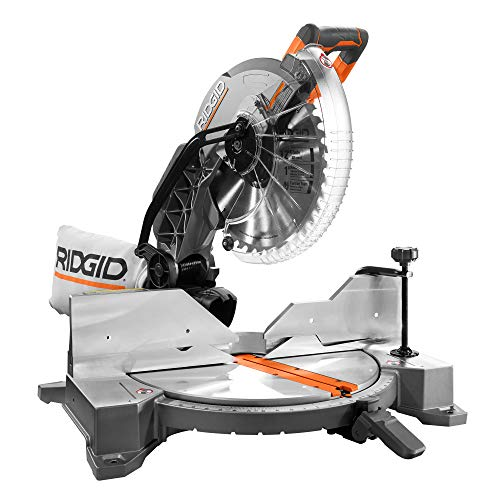 Ridgid ZRR4122 12 in. Dual Bevel Compound Miter Saw with Laserguide (Certified Refurbished)
