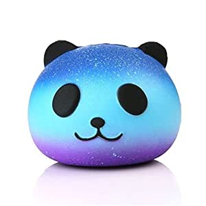 Uspeedy Cute Squishy Slow Rising Soft Squishy Charms Toy For Stress Relief And Time Killing (0 0 0 Star Panda)