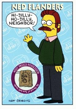 Ned Flanders trading card (The Simpsons) 1994 Skybox #S5 -