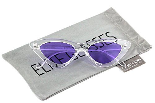 Cat Eye Sunglasses Sexy Womens Exaggerated Slim Frame Colorful Tented - Eye Cat Slim Sunglasses