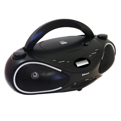 AXESS PBBT2702 Portable Bluetooth Boombox with CD