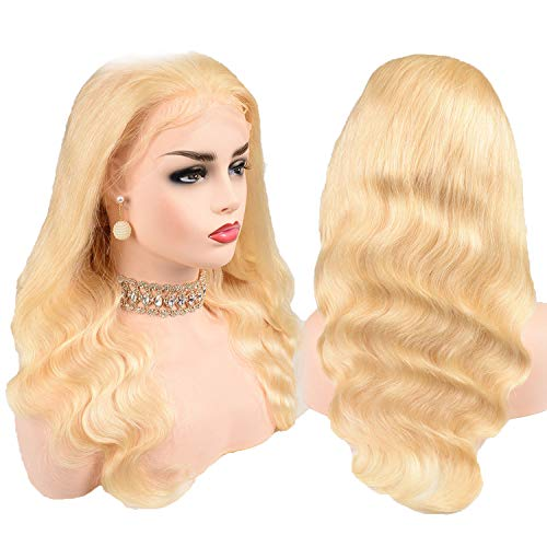 Brazilian Wig 44 Body Wave Lace Front Wig Lace Front Human Hair Wigs Non Remy,#613,14inches,150%