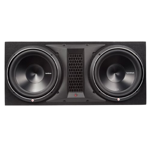 Rockford Fosgate Car Speakers And Subwoofers (Rockford Fosgate P3-2X12 1200 Watts Dual Rms Subwoofer Enclosure)