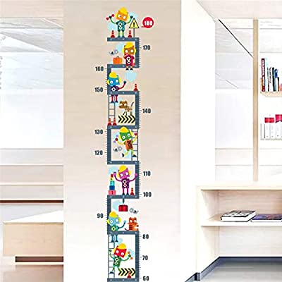 Robot Upstairs Height Measure Wall Sticker for Kids Children Room Decor Growth Chart Wall Decal Art Boy's Room Decor: Baby