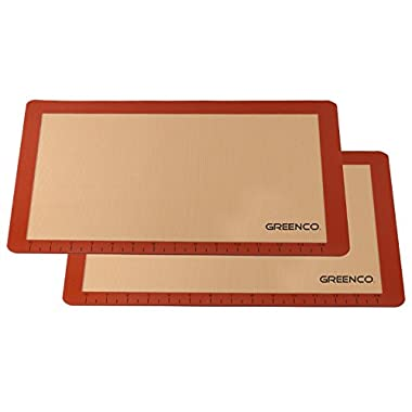 Greenco Non-Stick Silicone Baking Mat (2 Pack)