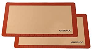 Greenco Non-Stick Silicone Baking Mat (2 Pack)