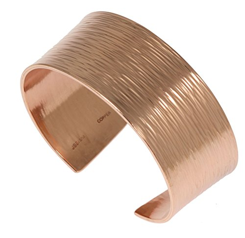 1 Inch Wide Bark Copper Cuff Bracelet By John S Brana Handmade Jewelry 100% Solid Uncoated Copper (7)