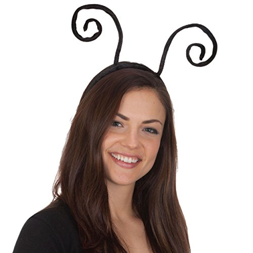 [Black Velvet Antenna Headband] (Scary Bee Costume)
