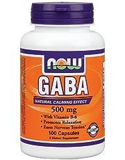 Now® GABA 500 Mg+ B-6 2mg - 100 Caps (1)