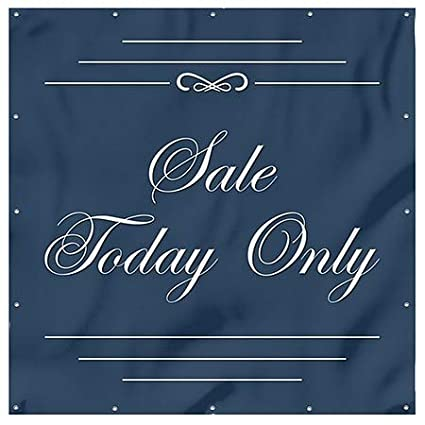 Stripes Blue Heavy-Duty Outdoor Vinyl Banner 12x8 Sale Today Only CGSignLab