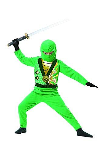 Ninja Avenger Costume Green (Charades Baby Ninja Avenger Series 4 Costume, Green, Toddler (1 to 2 Years))