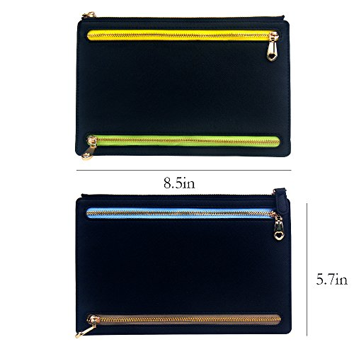 Ticket Travel Wallet & Money Clip,Volin Crik Black PU Leather Multi Zip Pockets Wallet Traveling Accessories by Volin Crik (Image #4)