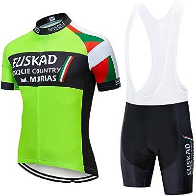 STEPANZU Maillot Ciclismo Hombre Verano Corta Ropa MTB + Pantalones Cortos Transpirable Ropa Ciclismo Conjunto: Amazon.es: Deportes y aire libre