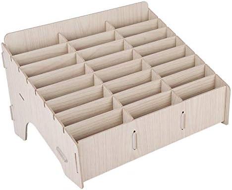 Diyeeni Aufbewahrungsbox aus Holz, Aufbewahrung Box mit Unterteiler für die Verwaltung von Mobiltelefonen, Management Box für Klassenzimmer, Konferenzsaal
