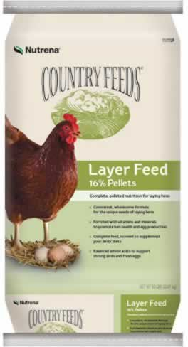 Nutrena Country Feeds 16% Layer Pellets Chicken Feed 50 Pounds by Nutrena