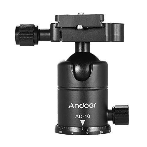 Andoer AD-10 Aluminum Alloy Tripod Head Camera Tripod Ball H
