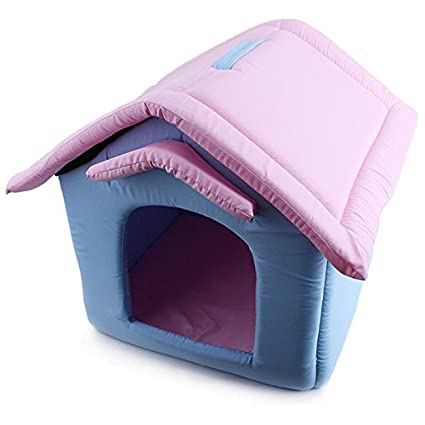 Amazon.com : WeMore(TM) Luxury Small Dog Cat House Outdoor Portable Foam Padded Pet Nest Beds Puppy Kennel camas para perros : Pet Supplies