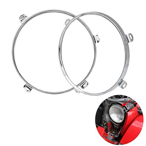 - SKTYANTS 7 inch Headlight Ring Bracket Mounting Bezel for Wrangler JK 2007-2018 (Chrome)