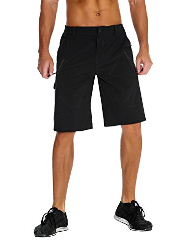 Unitop Men's Outdoor Pants Quick Dry Hiking Cargo Shorts Black 36 For Sale