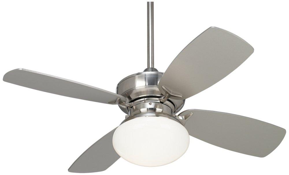 36'' Casa Vieja Outlook Brushed Nickel Ceiling Fan