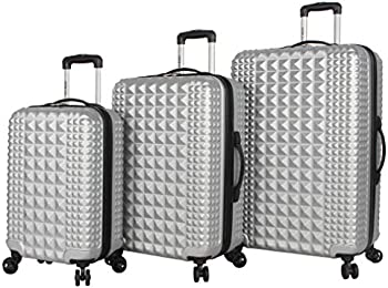 Steve Madden B-2 Hard Case 3 Piece Spinner Suitcase Set Collection