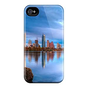 [tXh27932cxpM] - New City On The River In Blue Protective Iphone 4/4s Classic Hardshell Case