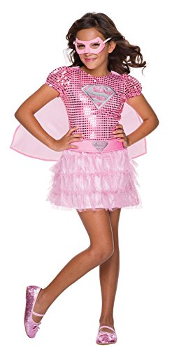 [Rubie's Costume DC Superheroes Supergirl Pink Sequin Child Costume, Small] (Supergirl Costumes Pink)