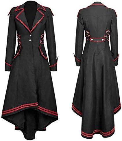 [해외]여성용 고딕 테일 코트 재킷 여성용 스팀펑크 재킷 턱시도 수트 코트 빅토리안 코스튬 긴소매 빈티지 오버코트 / Women`s Gothic Tailcoat Jacket,Ladies Steampunk Jacket Tuxedo Suit Coat Victorian Costume Long Sleeve Vintage Overcoat