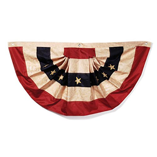 Darice Bulk Buy DIY Crafts Tea Stained American Flag Bunting 25 x 48 inches (6-Pack) 2508-93