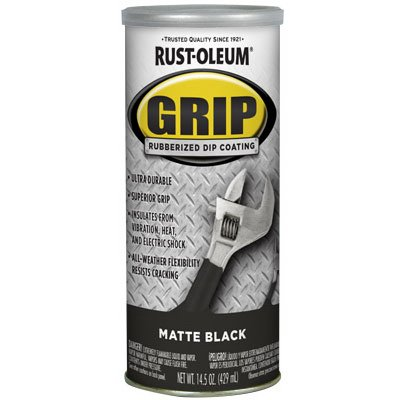 Dip Coating - RUST-OLEUM 322126  Black Matte Rubberized Dip Coating, 14.5 ounce