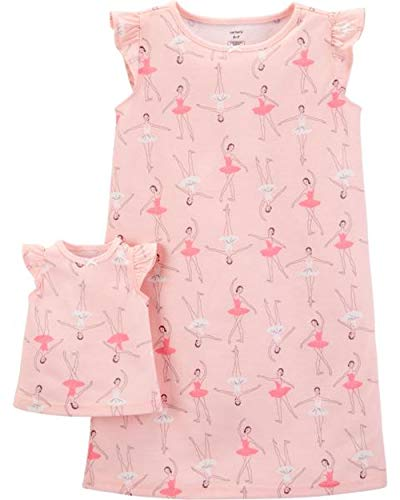 Carter's Girls' 4-14 Jersey Gown and Doll Dress Set (2-3/Ballerina)
