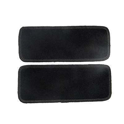 Alpha-Tex Fußmatte 1614 - Autoteppich (2 Einstiegsmatten in Qualität Classic schwarz, Umrandung beige)