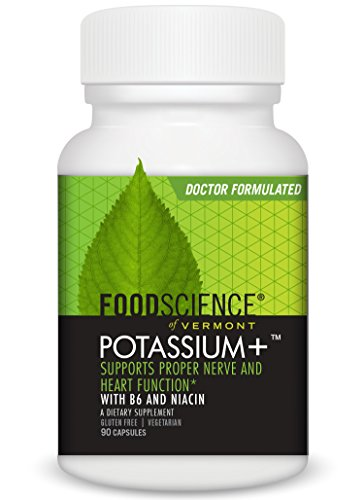 - FoodScience of Vermont Potassium +, Nerve and Heart Support Supplement, 90 CT Capsules