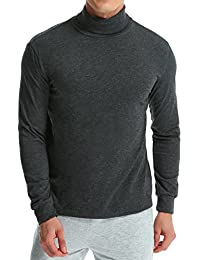 Men's Shirt Long Sleeve Cotton T-Shirt Lightweight Turtleneck Slim Fit Tops