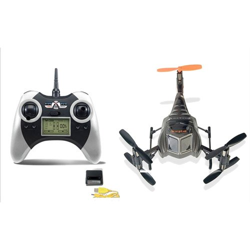 Chengxing Scorpion S-Max RTF 3D Tumbling Six Axis 4ch 2.4Ghz Micro RC Multi Rotor Quadcopter Heli (Silver)