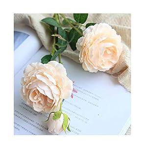 61cm Long European Artificial Flower 3 Head Home Silk Peony Wedding Flower Foreign Rose Decorative Flower Party Decor 1pcs,3 43