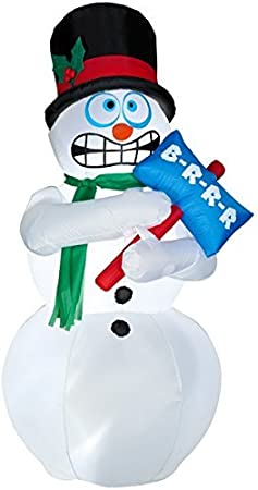 Amazon.com: Animated Shivering muñeco de nieve hinchable – 6 ...