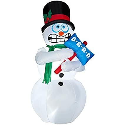 amazon com shivering snowman 6 feet tall shivers and shakes
