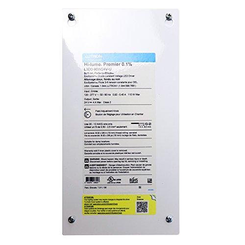 Lutron L3D0-96W24V-U Constant Voltage LED Driver, 24-Vdc, 110-Watt, 120/277V:In