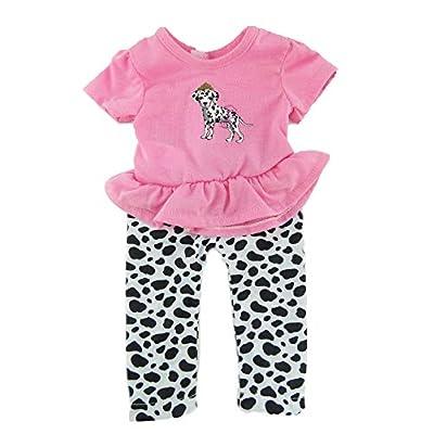 Dalmatian & Pink Pant Set - Fits 18