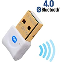 Click2u Bluetooth USB Adapter CSR 4.0 USB Dongle , Bluetooth Transmitter and Receiver For Windows 10 / 8.1 / 8 / 7 / Vista - White