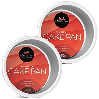 """Last Confection 2-Piece Round Cake Pan Set - 4"""" x 2"""" Deep Aluminum Pans"""