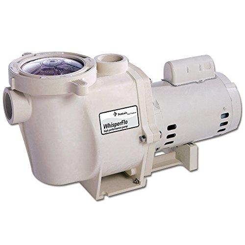 Pentair 011515 WhisperFlo High Performance Energy Efficient Single Speed Full Rated Pool Pump, 2 Horsepower, 208-230 Volt, 1 Phase - Whisperflo Pool Pumps