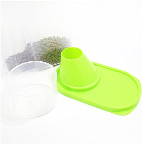 GreenJoy 2 Pack-Pet Dog Cat Food Plastics Storage Container Waterproof Durable Portable by GreenJoy (Image #2)