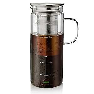 Amazon.com: BTäT - Cafetera fría para café, 1,5 quart, 48 oz ...