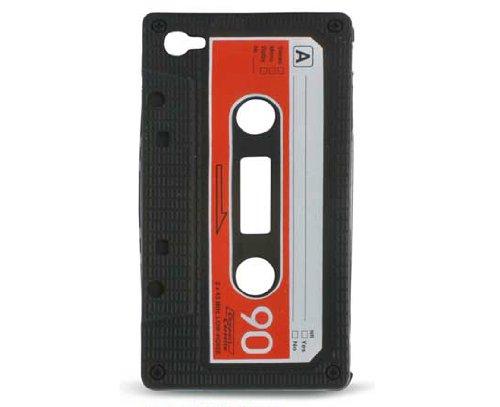 KSIX Freestyle-Étui en Silicone en forme de Cassette pour iPhone 4/4S Noir